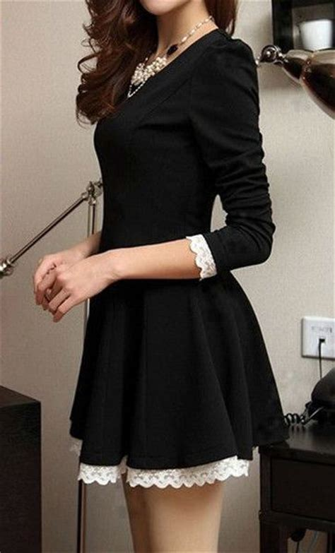 Sweater List Line Fashion Sweater Remaja Modern Simple Sale Bl 100 ideas about the black dresses make us look simple and