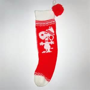 Santa snoopy knit christmas stocking collectpeanuts com