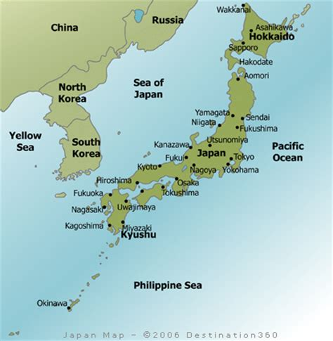 map of japan major cities japan map