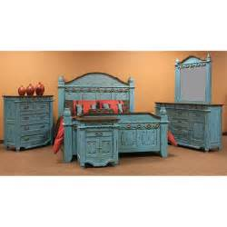 turquoise grand bedroom set king real solid wood