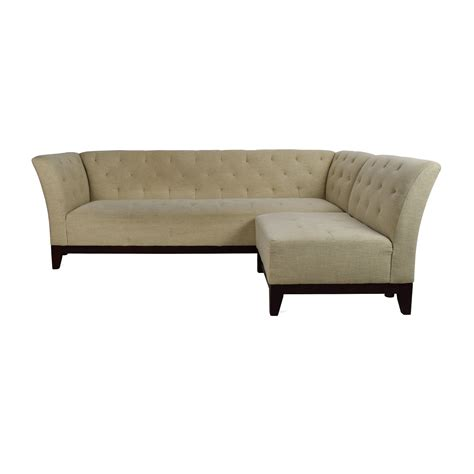 tufted sectional with chaise tufted chaise sofa 28 images miranda sofa chaise