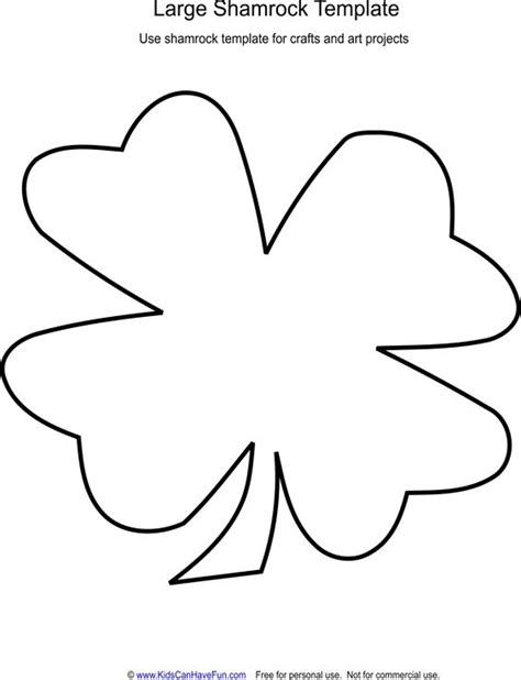 shamrock template large shamrock template crafts march crafts and search