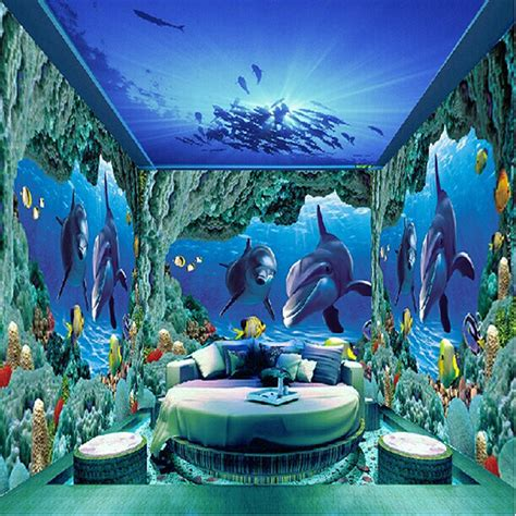 3d floor painting wallpaper underwater world mermaid 3d floor pvc achetez en gros papier peint mer en ligne 224 des grossistes