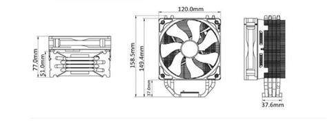 hyper 212 evo 120mm fan oem package galleon cooler master hyper rr 212e 20pk r2 led cpu