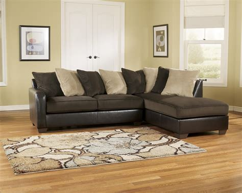 ashley brown sectional couch corduroy sectional sofa chocolate corduroy reversible