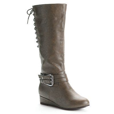kisses by 2 spoof womens wedge boots