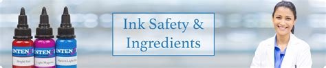 is tattoo ink safe ink safety ingredients intenze ink
