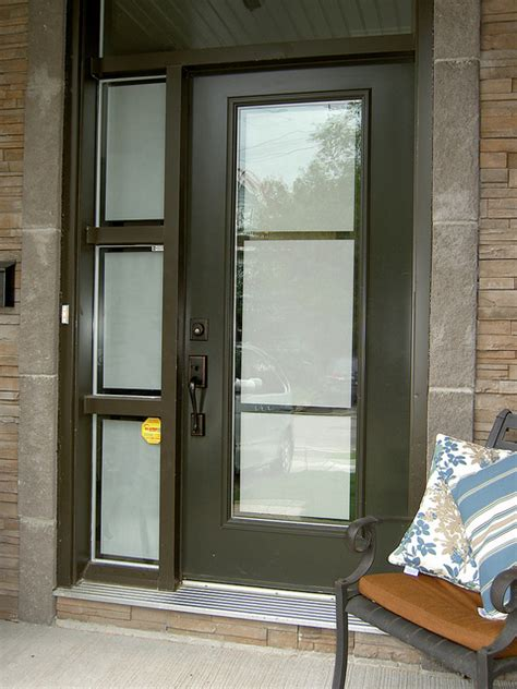 Frosted Glass Exterior Doors Front Door And Sidelight With Privacy Frosted On Glas Flickr Photo