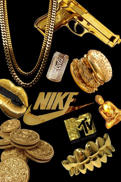 gold nike wallpaper cool background nike art pinterest wallpaper nike