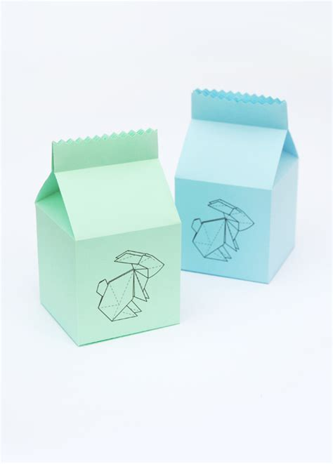 Origami Treat Box - easter origami bunny treat box minieco