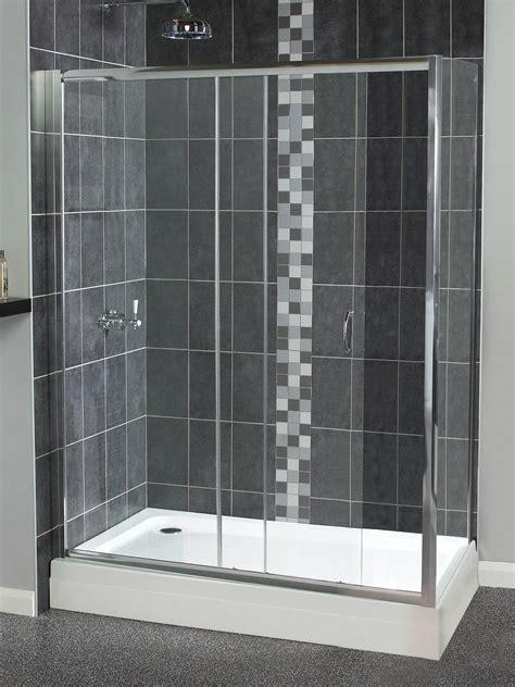 1200mm Sliding Shower Door Aqualux Shine Sliding Shower Door 1200mm Polished Silver Fen0903aqu