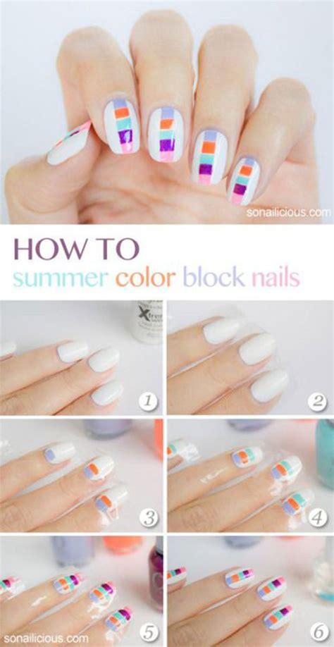 easy nail art picture tutorials 20 easy step by step summer nail art tutorials for
