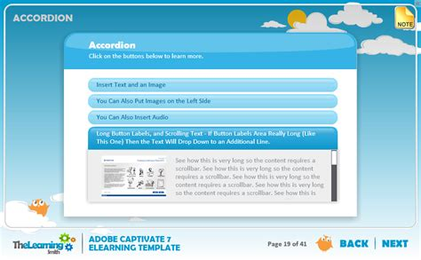 elearning templates captivate the learning smith captivate 7 elearning template