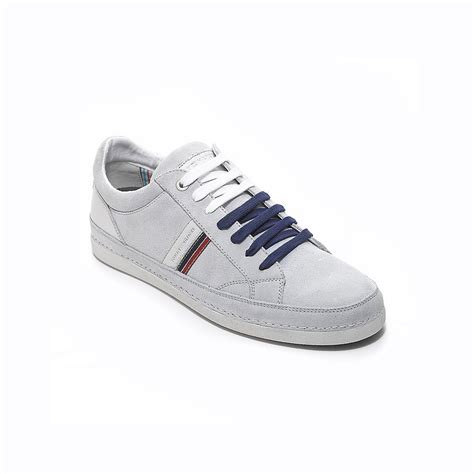 hilfiger white sneakers hilfiger side stripe casual sneaker in white for