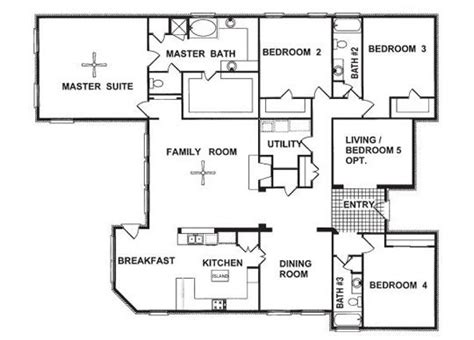 4 Bedroom Floor Plans One Story by Shefield 4 Bedroom Home For Sale In Tx Fall Creek For
