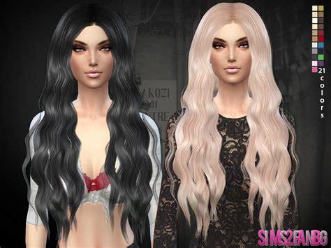 sims 4 cc long curly hair sims2fanbg s hair 02 long wavy