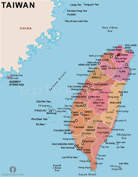 map of taiwan taiwan politische karte
