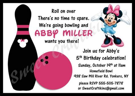 diy bowling favors diy printable minnie mouse bowling birthday invitation
