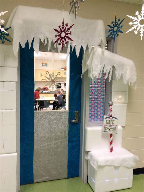 winter wonderland classroom door ran    speech