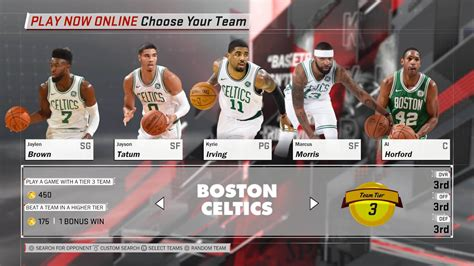 Boston Celtics Nba boston celtics nba 2k18 team roster