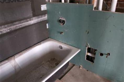replace  sheetrock   shower bathtub home guides sf gate