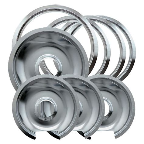 Kitchen Stove Drip Pans by Chrome Drip Pans And Trim Rings For Ge Hotpoint Electric