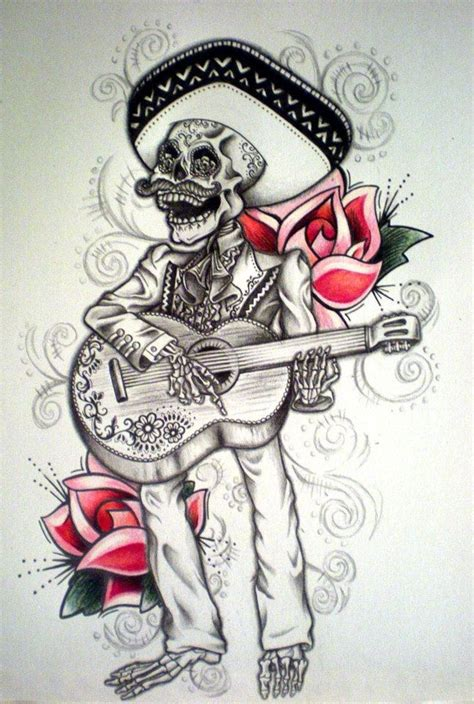 mariachi tattoo designs day of the dead mariachi by desertdahlia on deviantart