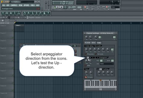 fl studio arpeggiator tutorial select arpeggiator direction how to make electronic music