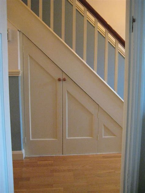 stairs cupboard ideas  pinterest