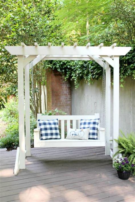 pergola swing porch swing with pergola buildsomething