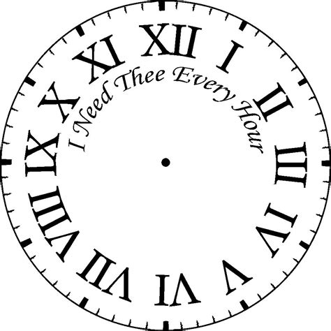printable roman clock face printable clock faces clipart best