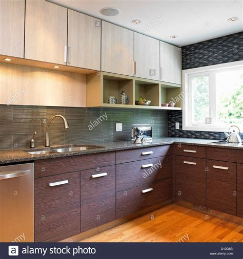 laminate tile backsplash kitchen with blue tile backsplash and wood laminate