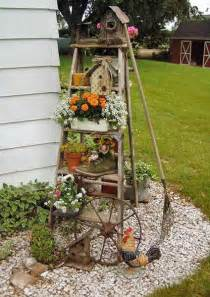 Alfa img showing gt decorating with old ladders for wedding