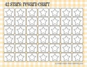 plaid reward charts 42 stars free printable downloads choretell