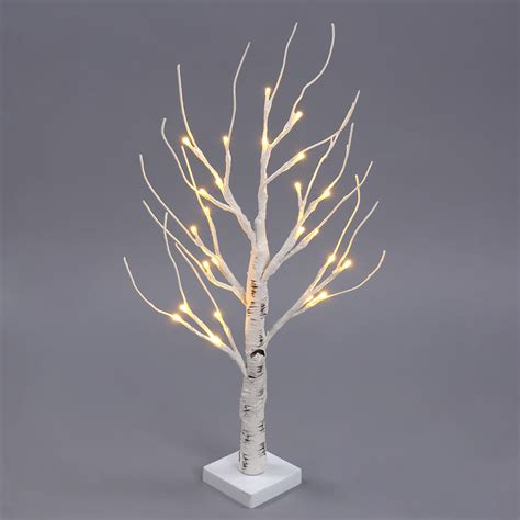 2ft 4ft 7ft christmas xmas pre lit led birch tree lights