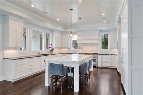 Transitional Kitchen Cabinets by White Transitional Kitchen Mantoloking New Jersey By