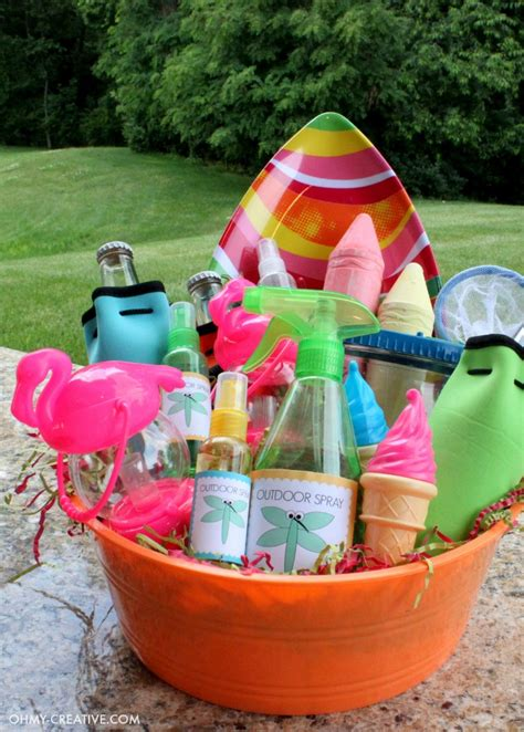 summer party gift basket oh my creative