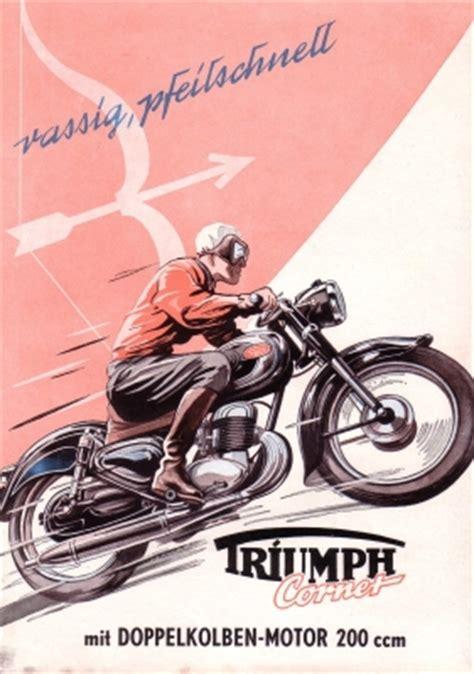 Motorrad Triumph Cornet by Triumph Cornet 200 Prospekt 1954 Nr Twn450 Oldthing
