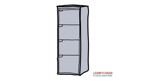 how to draw a cabinet how to draw a filing cabinet by for