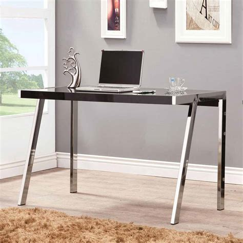 Modern Desk Legs Clayton Contemporary Home Office Study Computer Sleek Desk Metal Chrome Legs New Ebay