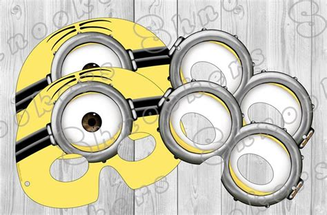 minion mask template despicable me 2 inspired printable minion mask by