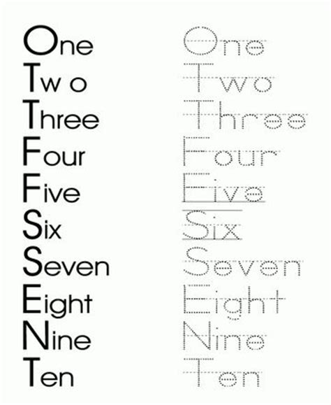 printable number line with words printable dotted numbers to trace printable number