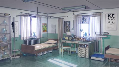 hospital background checks anime hospital background point in summer cby