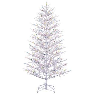 white winter berry branch tree ge 7ft winterberry tree with clear and multi colored lights