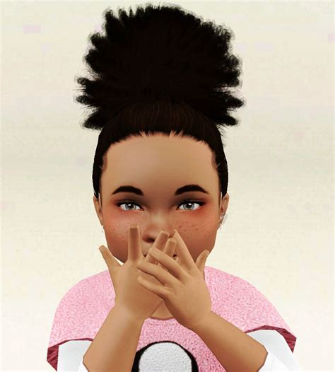 sims 3 baby hair sims3pack curly hair so here is the poofy ponytail for toddlers both kinky and