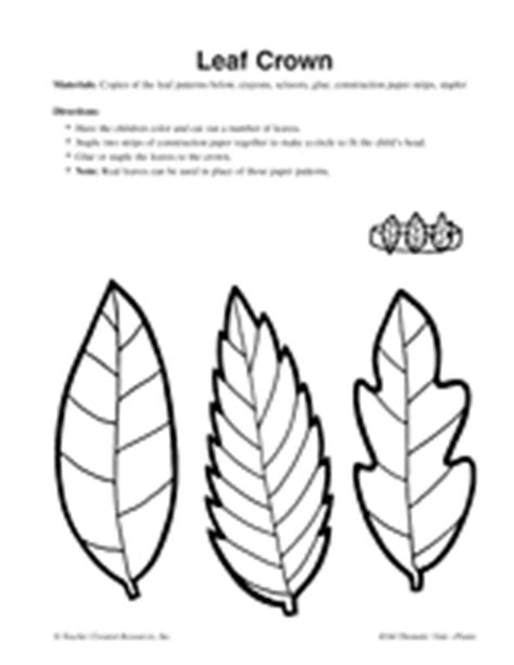 printable leaf crown leaf crown autumn printable arts crafts activity
