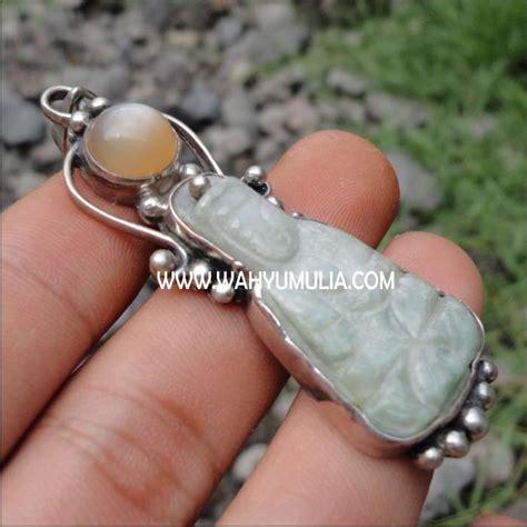 Gelang Giok Putih Jade Aceh liontin batu giok moonstone kode 173 wahyu mulia