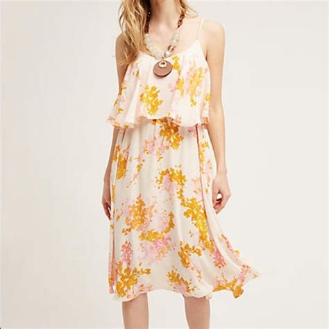 Crown Dress anthropologie tiered magnolia print dress by paper crown