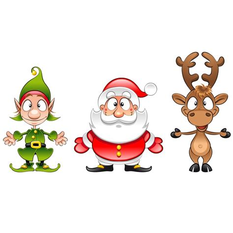 christmas characters design vector free download