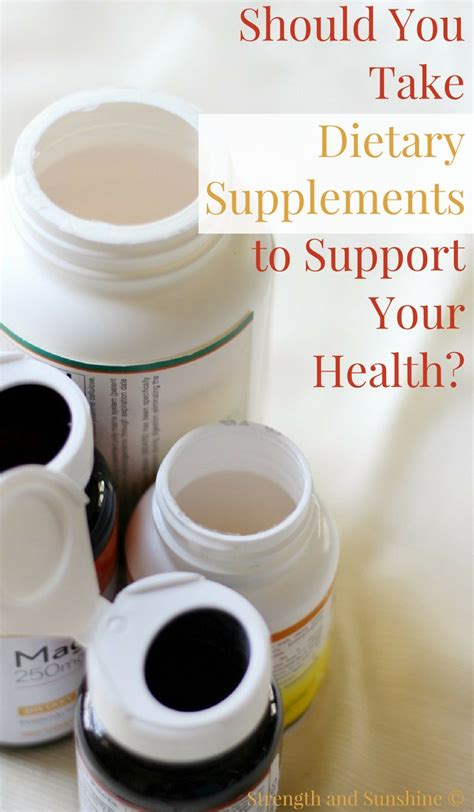 supplement your health should you take dietary supplements to support your health